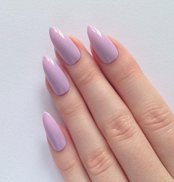 http://tipsalud.com Lilac stiletto nails, Nail designs, Nail art, Nails, Stiletto nails, Acrylic nails, Pointy nails, Fake nails, False nails