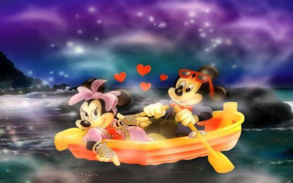 Mickey Minnie Paseo en Barca.