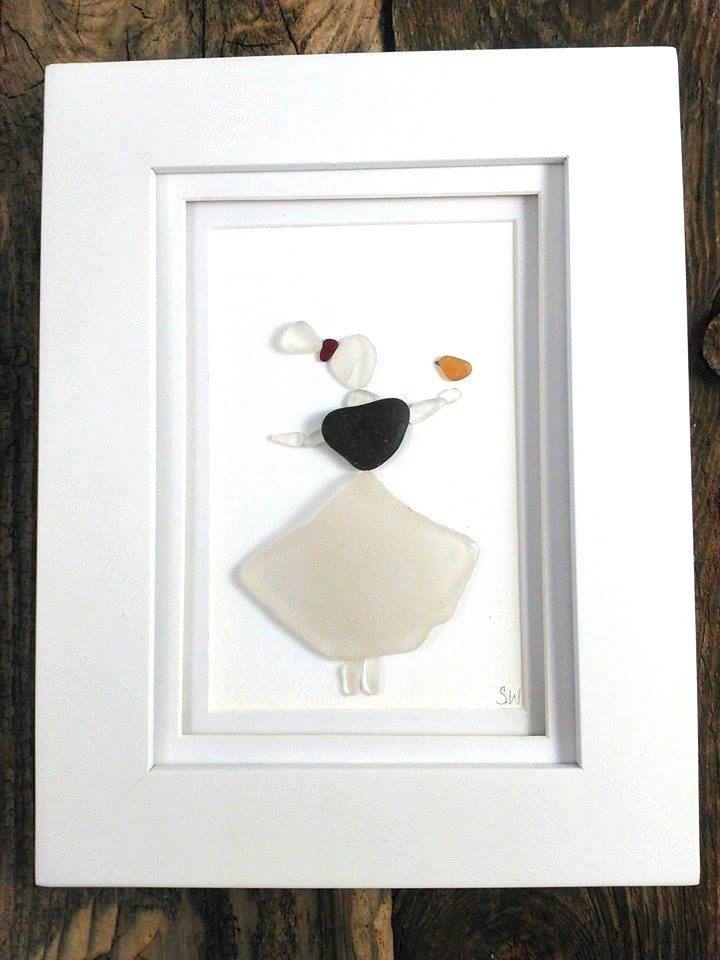 Sea glass maiden// Sea glass art// Beach decor// Sea glass// Prince Edward…