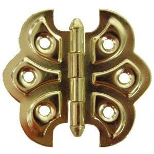 Brass Plated Butterfly Hinge Pair