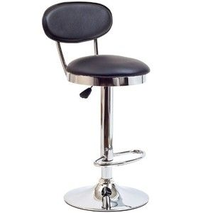 LexMod Retro Bar Stool in Black