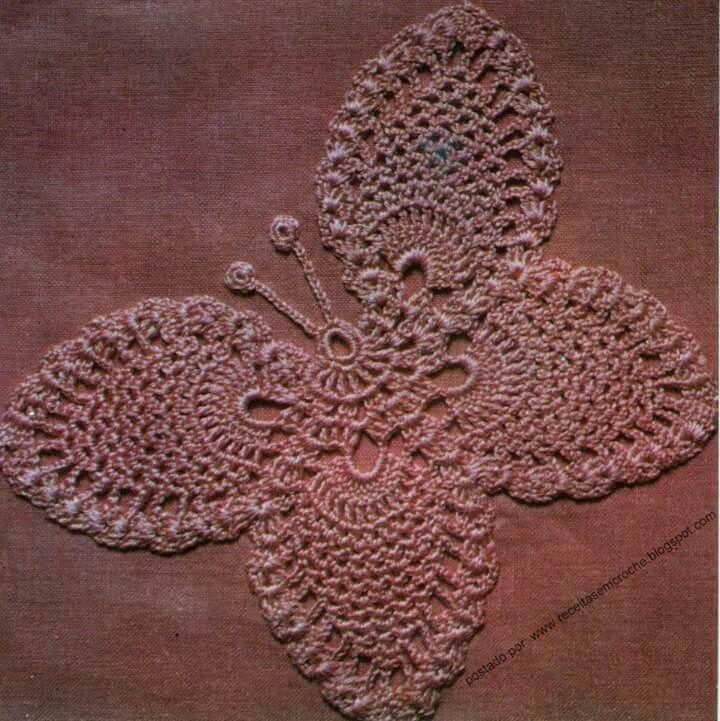 Perfecto Crochet Patrón De Mariposa Libre Colección de Imágenes ...