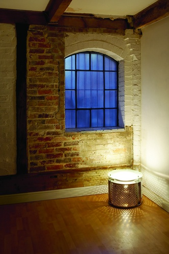 Lampe aus Waschtrommel