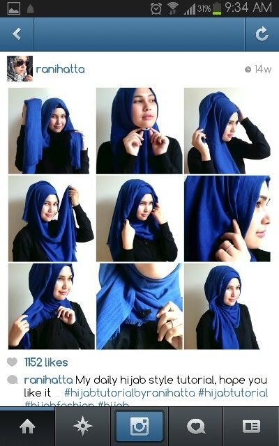 Ranihatta's beautiful quick Hijab Style <3 Love this look!!