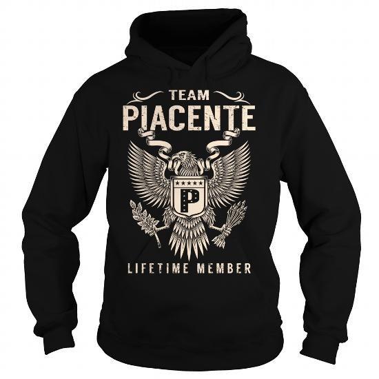 I Love Team PIACENTE Lifetime Member - Last Name, Surname T-Shirt T-Shirts