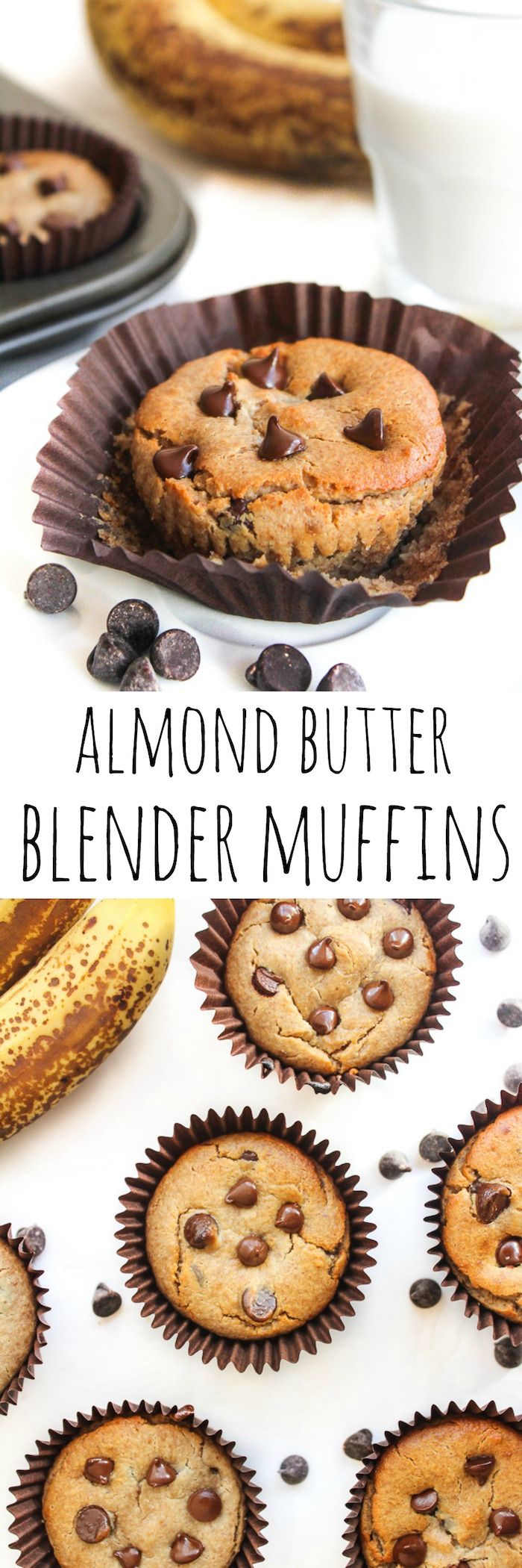 Almond Butter Blender Muffins - paleo and vegan too!