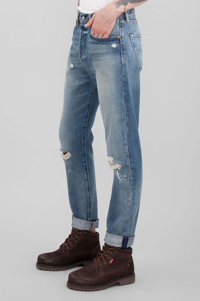 New Mens LEVIS 501 ® CT  HAGGLESTON Slim leg JEANS 18173-0067 JEANS size W32 L34