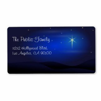 Star of Bethlehem Christmas Address Label