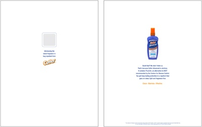 Cutter Bug Spray-Scratch and Sniff Ad Insert
