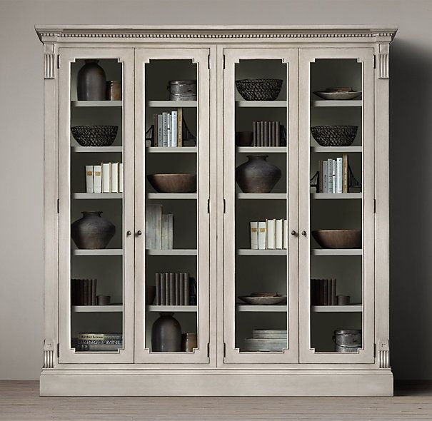 James Glass Double Cabinet Single Is Nice Too Restoration Hardware