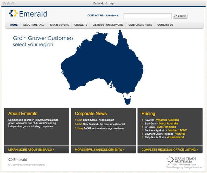 Commencing operation in 2004, Emerald has grown to become one of Australias leading independent grain marketing companies.