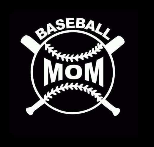 Baseball mom custom window decal sticker