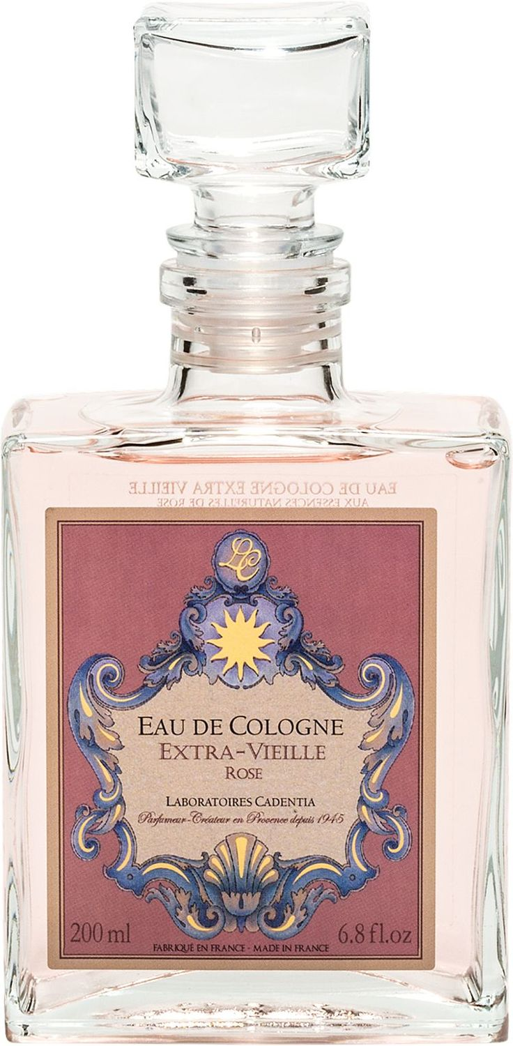 French Rose Eau de Cologne: A bouquet of French roses, this lovely rose cologne is made by the esteemed Provence perfumers with the purest essential oils and possesses a rose fragrance like no other.