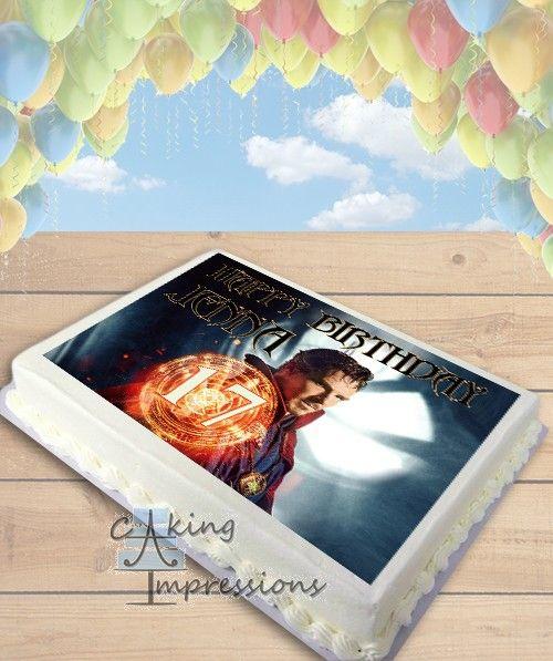 Doctor Strange Edible Image Cake Topper [SHEET]