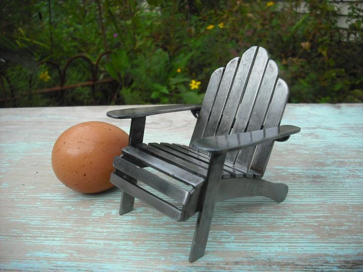 Attractive Little Metal Adirondack Chair