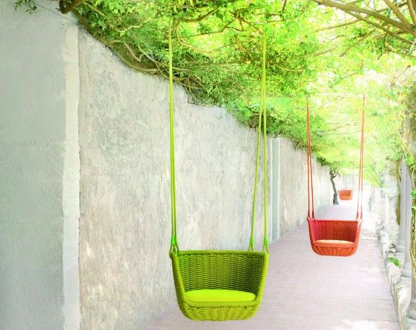Preparing for #summer? Add some colour to your outiside #decor with this trendy swing-style pods.
