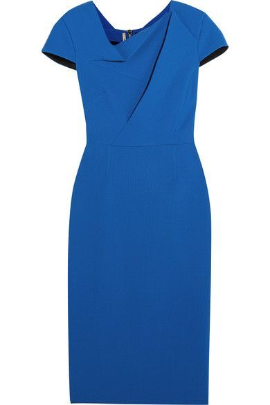Roland Mouret - Burfield Wool-crepe Dress - Blue - UK