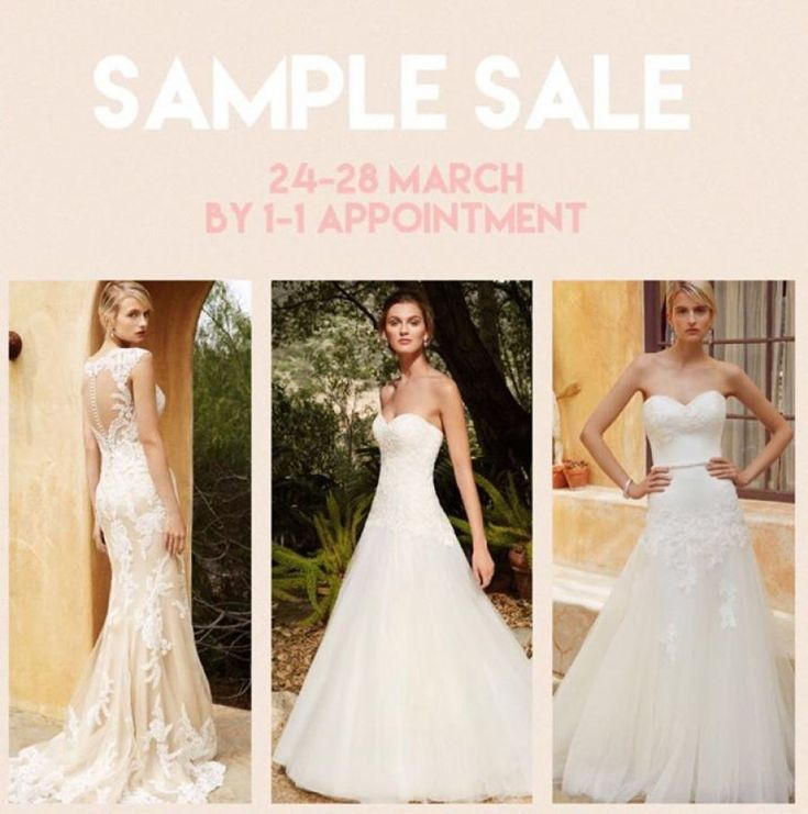 Wedding Dress Sample Sale @ Lily Amore Bridal -- Troon -- 24/03-28/03