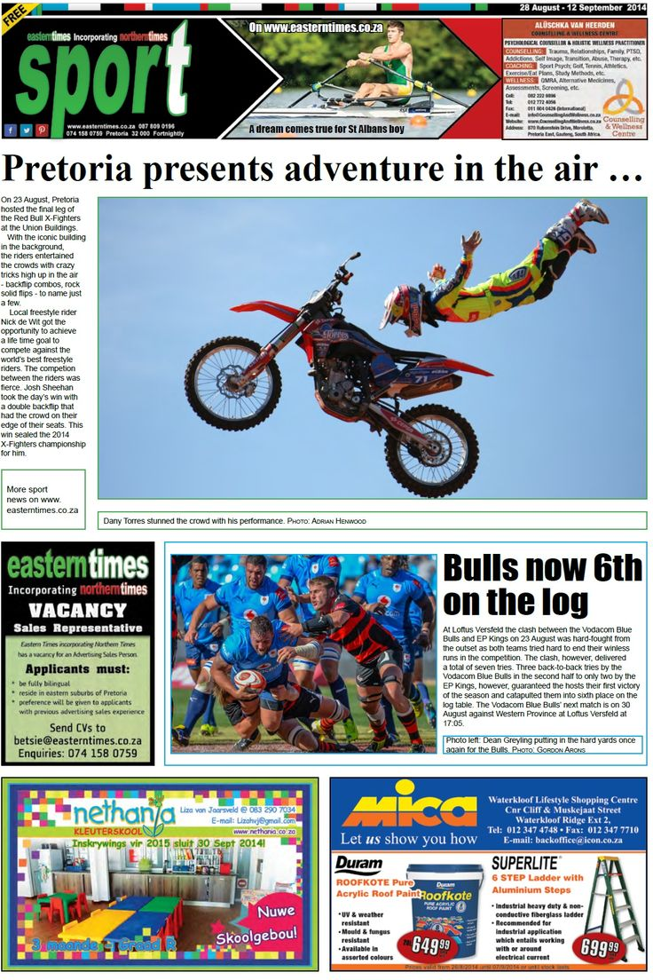 2014 SPORT PAGE 28 AUGUST - 12 SEPTEMBER