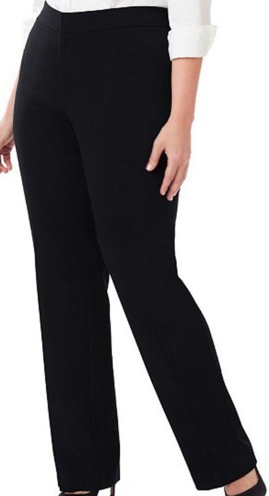 8dead7114ade0 Stylish Right Fit Curvy Black Pants Size 32W 4X Pants by Catherines  Trousers NWT  Catherines  DressPantsorCasualorCareer