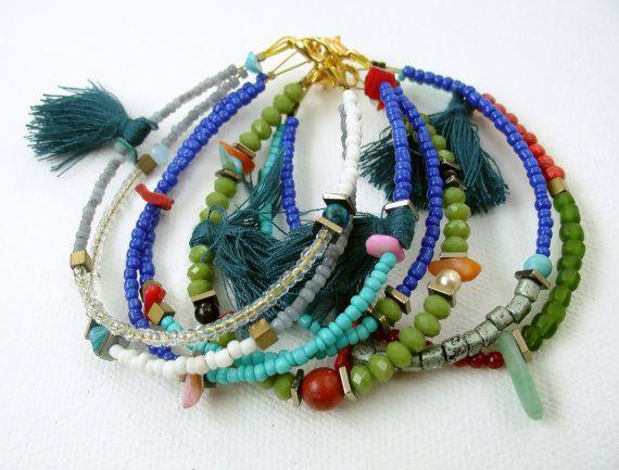 Lime Green Boho bracelet Jewelry Collection by StudioCreativo