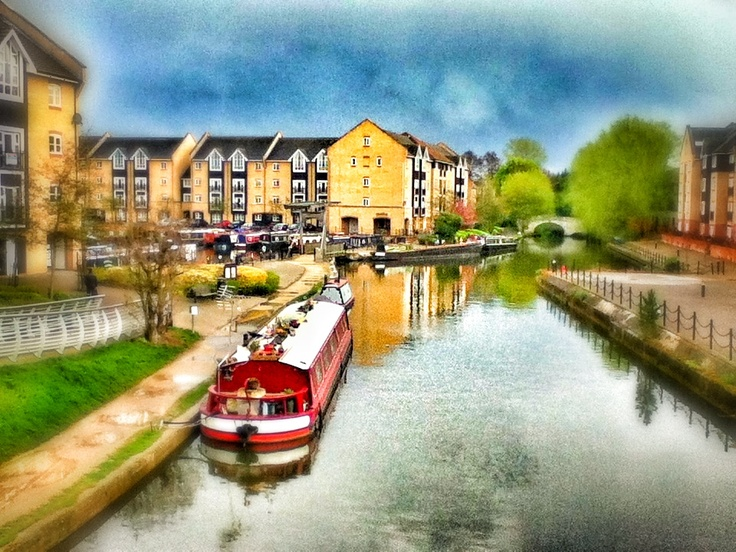 like a painting. The marina in Apsley