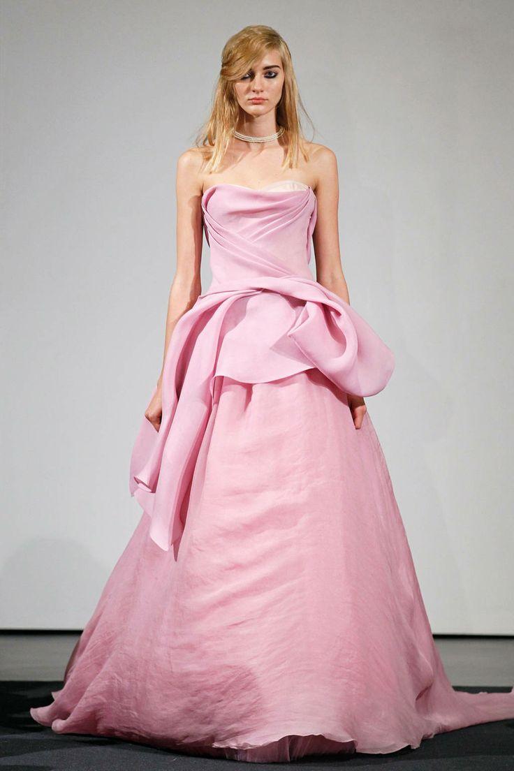 21 best Pink Wedding Dress images on Pinterest | Wedding frocks ...