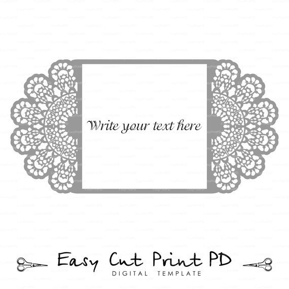 Wedding Invitation Lace Crochet Doily Pattern Card