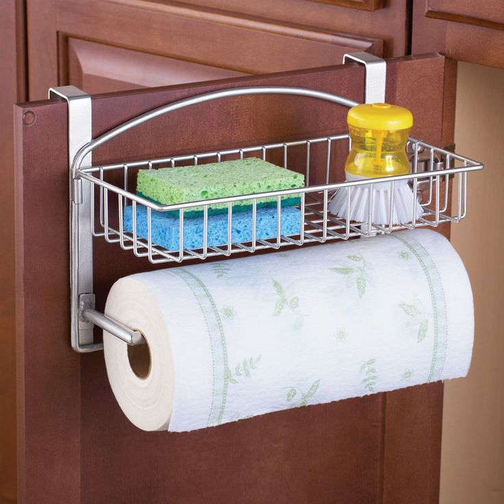 Over The Door Storage Organizer, Paper Towel Holder, Kitchen