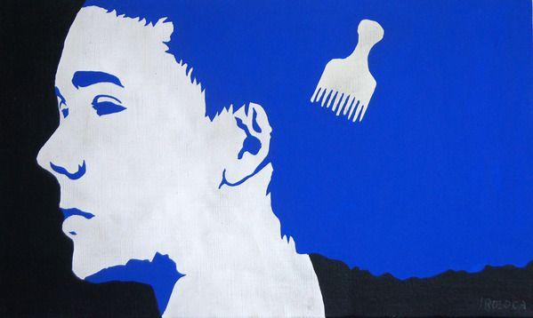 COOL画「YOKOGAO(青)」[IROSOCA] | ART-Meter