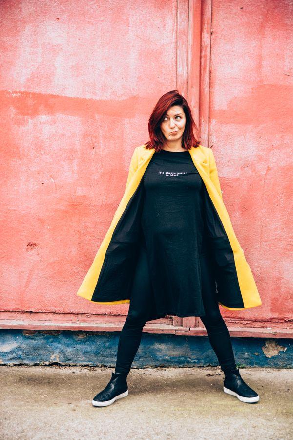 Ein unübersehbarer Hingucker in Gelb #gelb #mantel #zara #coat #yellow #fall #outfit #zdea #modaimi #fashion #fashionblogger