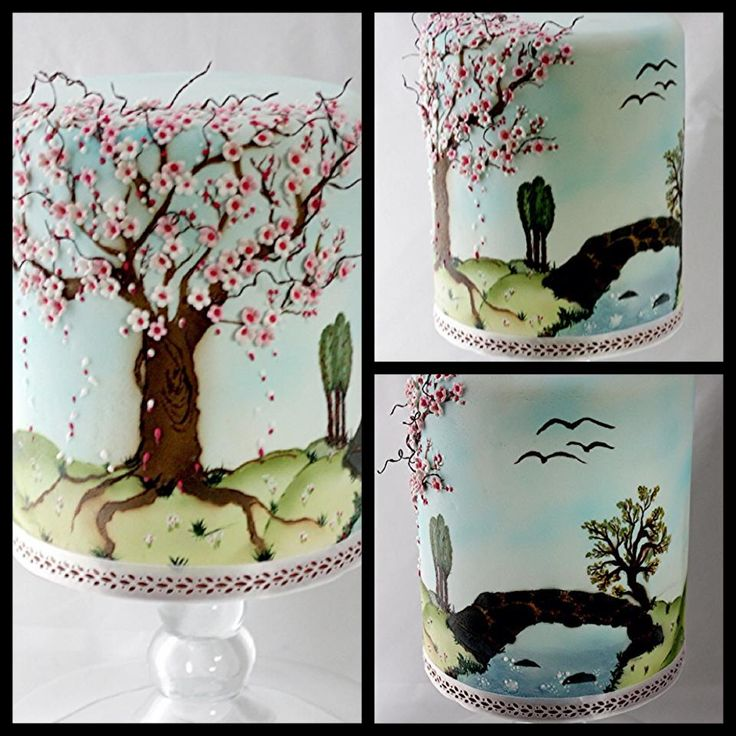 Cake Decorating Airbrush Paint : 17 Best ideas about Cherry Blossom Cake on Pinterest ...