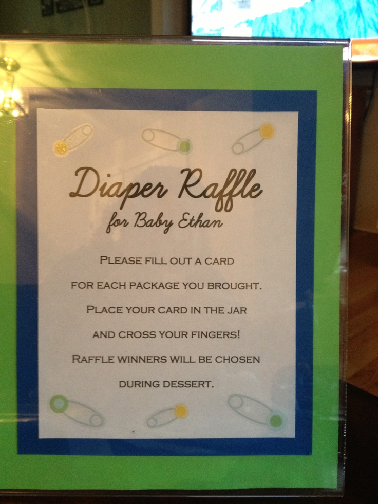 Diaper Raffle Directions Blue And Green Oh Boy Baby