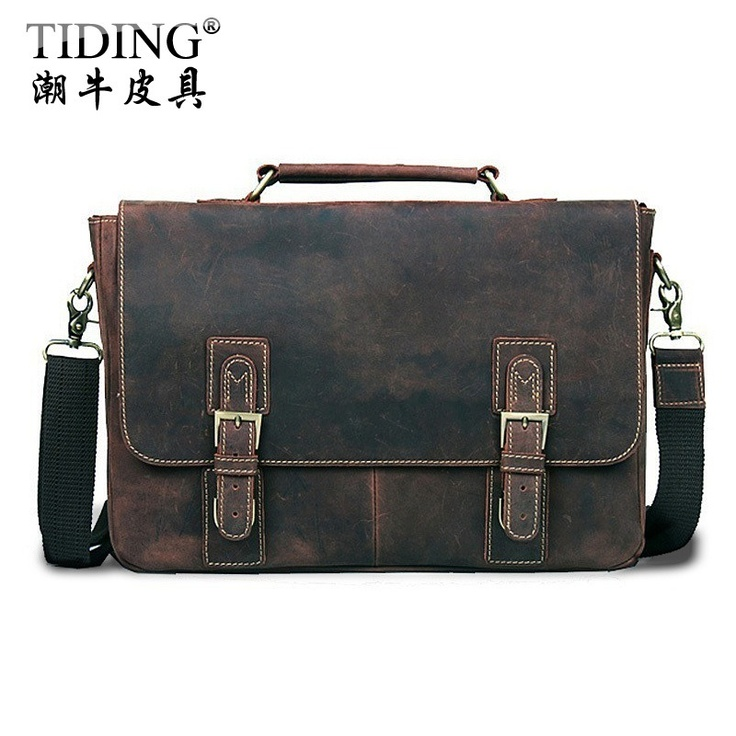 Aliexpress.com : Buy Free shipping 2012 Personality rough crazy horse leather bag vintage fashion male handbag fashion shoulder bag deep brown color from Reliable briefcase suppliers on Elemental Digital Global Trading Co., Ltd.
