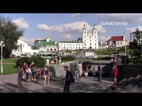 Minsk, Belarus - August 2013 - Short tour of the city