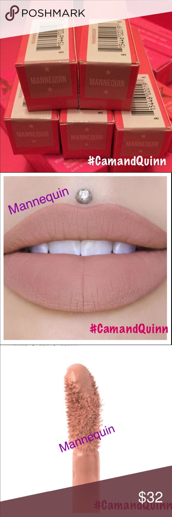 Jeffree Star⭐️Mannequin⭐️Trusted Seller BNIB, NEVER opened Jeffree Star MANNEQUIN Velour Liquid Lipstick for sale. THIS IS FOR ONE LIPSTICK!! ⭐Retails @ JSC: $18 + $6s/h = $24 +OUR $1 fee =$25 @Ⓜ️!!! Have to charge more here. ⭐️If bought BEFORE 2pm Mon-Fri, GUARANTEED to be mailed out SAME day. ⭐️We give a 10% off card to all clients valid 2 months off a future purchase! ⭐⭐️⭐️️We only charge $25 + s/h ($4)@Ⓜ️! Come see us over there for a cheaper deal⭐️⭐️⭐️ Jeffree Star Makeup Lipstick