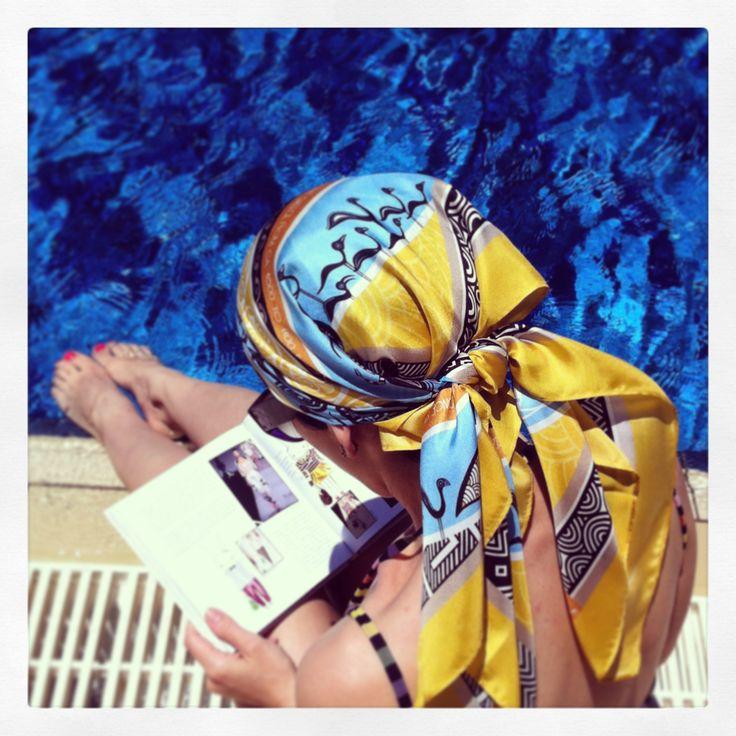 """""""Mycenaean"""" silk scarf by Grecian chic"""