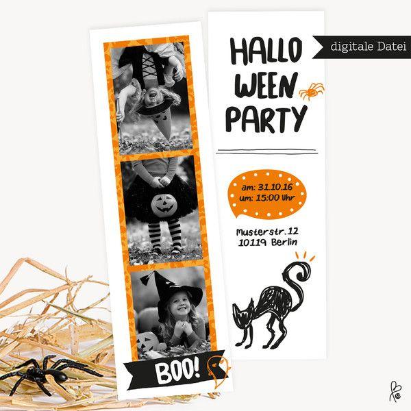 Weiteres - Halloweeneinladung mit Fotos / Printable - ein Designerstück von…