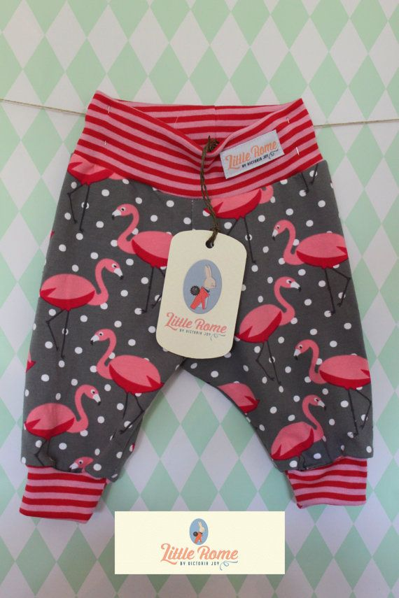 Little Rome's loose fitting baby pants, 100% Organic Jersey Cotton. SIZE 56, 0-3 months