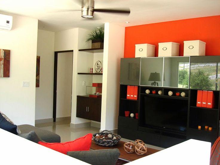 Muestras de pinturas para interiores trendy naranja for Muestras de colores de pintura