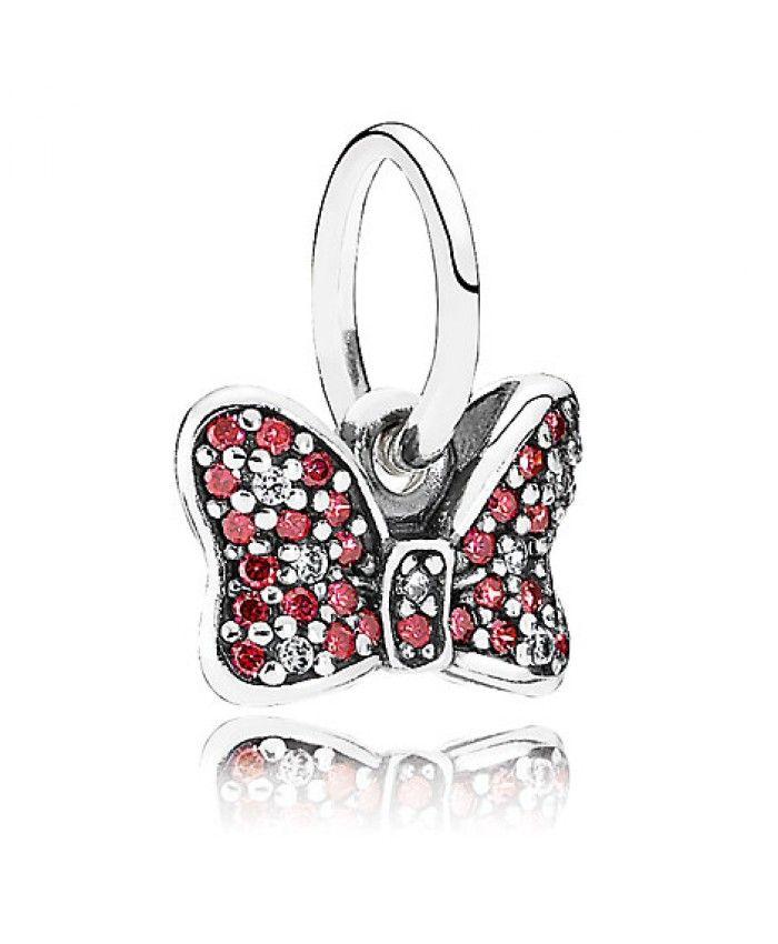 Cheap Disney Minnie Mouse Sparkling Bow Charm by PANDORA Sale Clearance