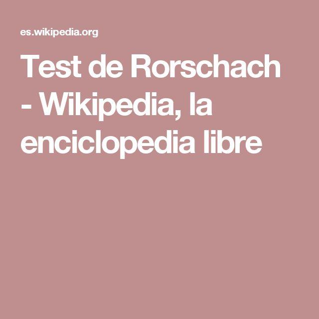 Test de Rorschach - Wikipedia, la enciclopedia libre