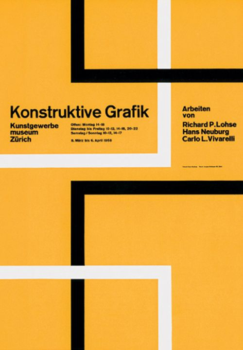 Kunstgewerbemuseum Zürich / Konstruktive Grafik / 1958. Hans Neuburg