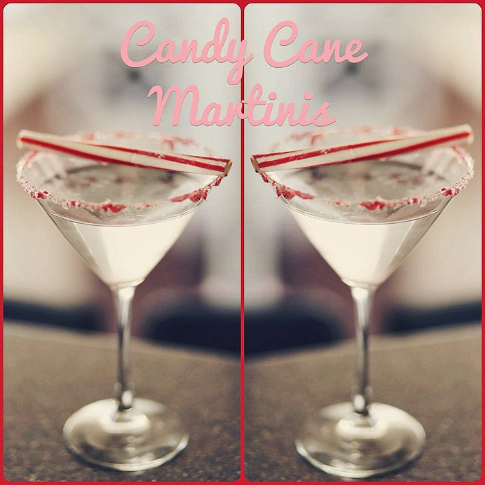 Candy Cane Martini Recipe- 1 1/2 shots vanilla vodka 1 1/2 ...