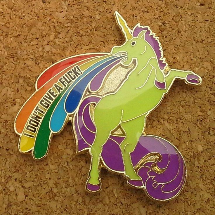 IDGAF Unicorn pin by Jemini www.JeminisBazaar.com
