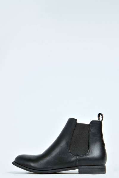 I like the brown better than the black to be honest. Alice Elastic Insert Flat Chelsea Boot at boohoo.com