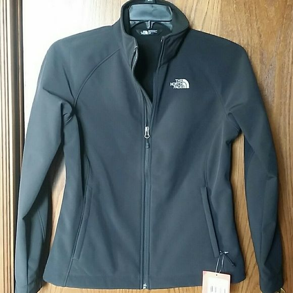 THE NORTH FACE LADIES JACKET NEW WITH TAGS / BRAND NEW THE NORTH FACE BLACK LADIES JACKET IN EXCELLENT CONDITION! SIZE MEDIUM.   GB SHELL BONDED FABRIC  FACE: 86 % POLYESTER 14 % ELASTANE  100 % POLYESTER LINING The North Face Jackets & Coats