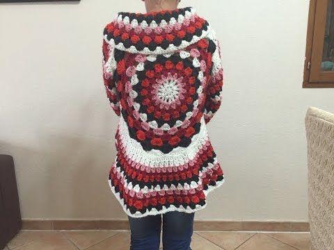 Tuto gilet cardigan mandala tout âge au crochet, My Crafts and DIY Projects