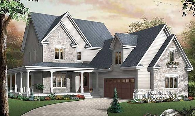 146 best images about 4 bedroom house plan 4 bedroom for Garage plans with office space