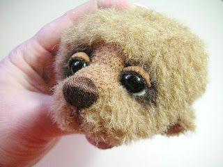 Teddy Bears Tutorials: Eye area - eyelashes and eyelids